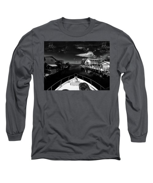 Boat Ride Long Sleeve T-Shirt by Kevin Cable