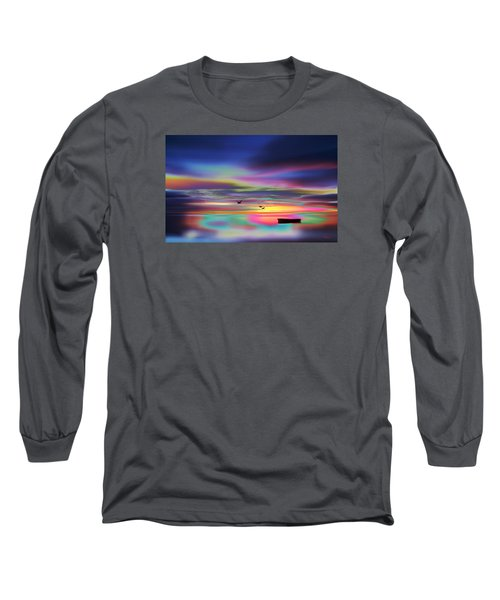Boat Sunset Long Sleeve T-Shirt