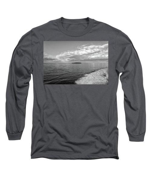 Boat Wake On Florida Bay Long Sleeve T-Shirt