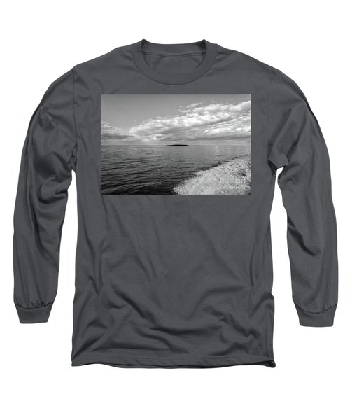 Boat Wake On Florida Bay Long Sleeve T-Shirt