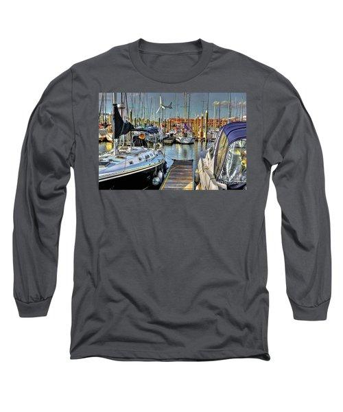 Boats At Kemah Long Sleeve T-Shirt