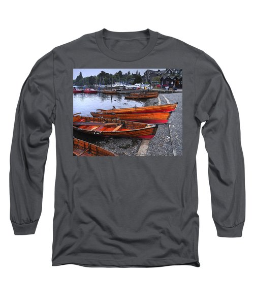 Boats At Windermere Long Sleeve T-Shirt