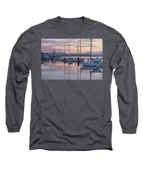 Boats In Pastel Long Sleeve T-Shirt