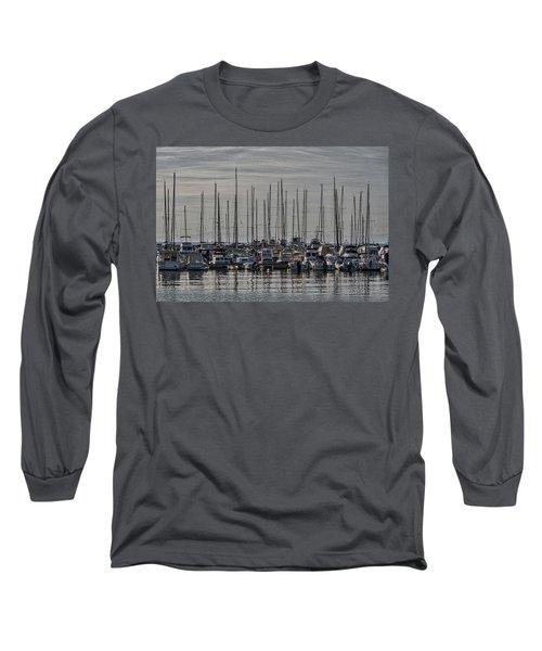 Long Sleeve T-Shirt featuring the photograph Boats In The Izola Marina - Slovenia by Stuart Litoff