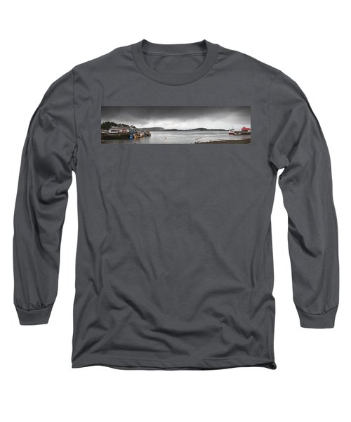 Boats Moored In The Harbor Oban Long Sleeve T-Shirt