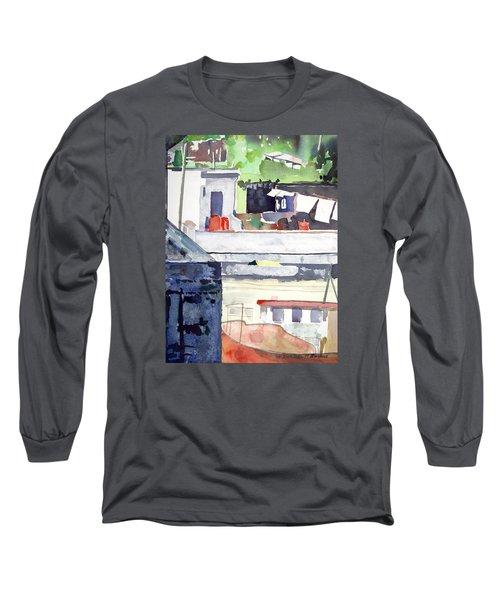 Boats On The Quay Long Sleeve T-Shirt