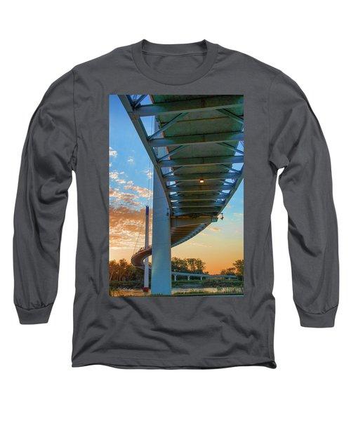 Bob Kerry Bridge At Sunrise-2 Long Sleeve T-Shirt