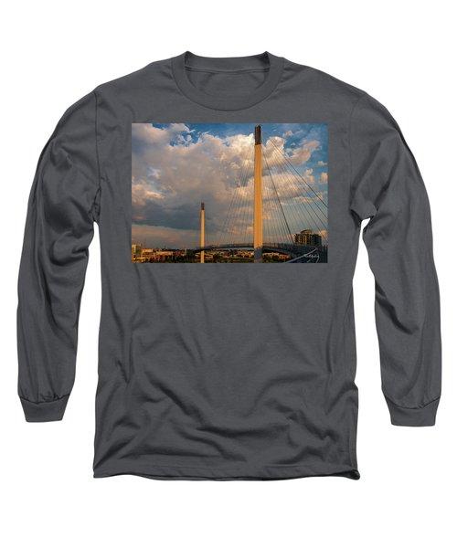 Bob Kerry Bridge At Sunrise-3 Long Sleeve T-Shirt