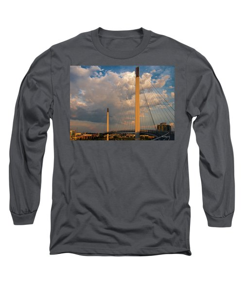 Bob Kerry Bridge At Sunrise-3 Long Sleeve T-Shirt