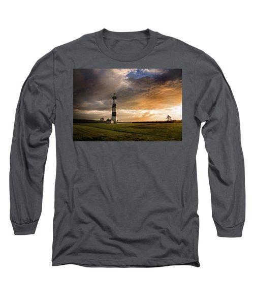 Bodie Lighthous Landscape Long Sleeve T-Shirt