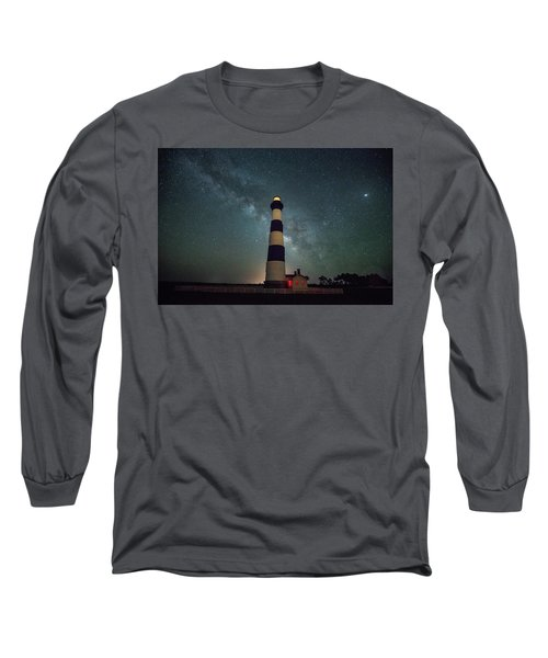 Bodie Lighthouse And Milky Way Long Sleeve T-Shirt