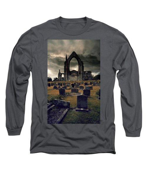 Bolton Abbey In The Stormy Weather Long Sleeve T-Shirt by Jaroslaw Blaminsky