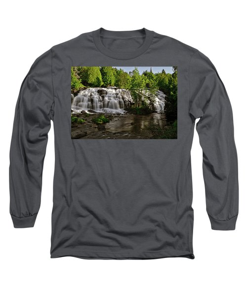 Long Sleeve T-Shirt featuring the photograph Bond Falls - Haight - Michigan 003 by George Bostian