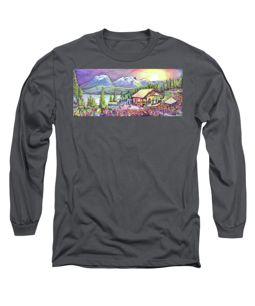 Long Sleeve T-Shirt featuring the painting Bonfire Dub by David Sockrider
