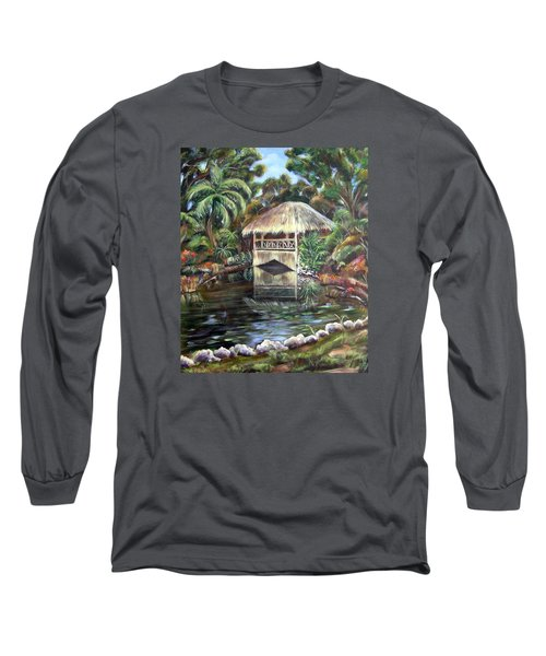 Bonnet House Chickee Long Sleeve T-Shirt by Patricia Piffath