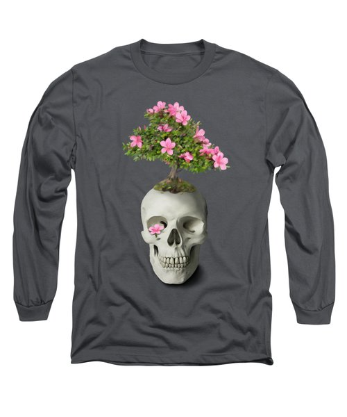 Long Sleeve T-Shirt featuring the painting Bonsai Skull by Ivana Westin