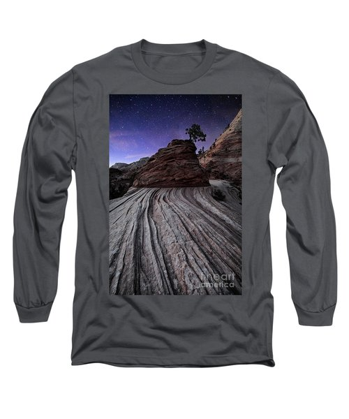 Bonzai In The Night Utah Adventure Landscape Photography By Kaylyn Franks Long Sleeve T-Shirt