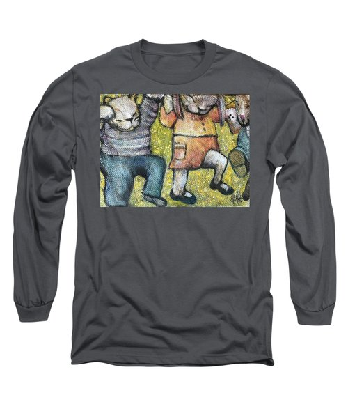 Long Sleeve T-Shirt featuring the painting Boogy Woogy by Eleatta Diver