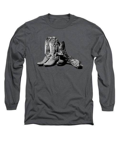 Boot Friends Gray Background Long Sleeve T-Shirt