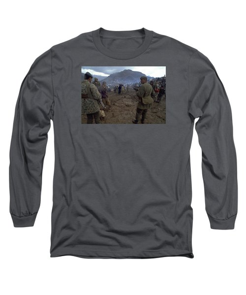 Long Sleeve T-Shirt featuring the photograph Border Control by Travel Pics