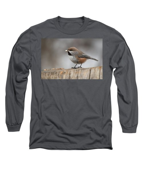 Boreal Chickadee Long Sleeve T-Shirt