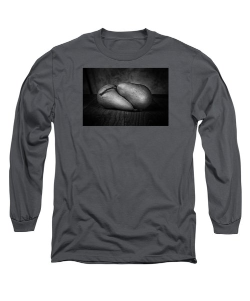 Bosc Pears In Black And White Long Sleeve T-Shirt by Tom Mc Nemar