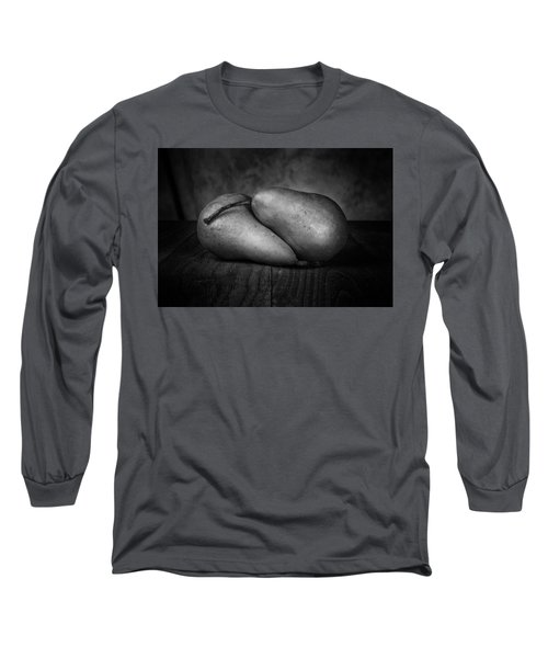 Bosc Pears In Black And White Long Sleeve T-Shirt