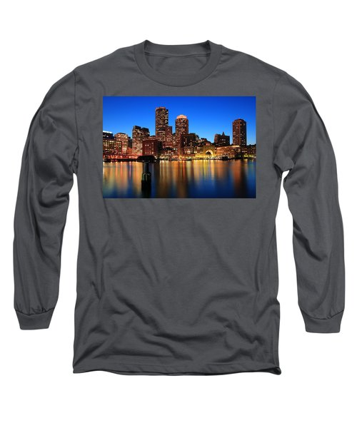 Boston Aglow Long Sleeve T-Shirt by Rick Berk