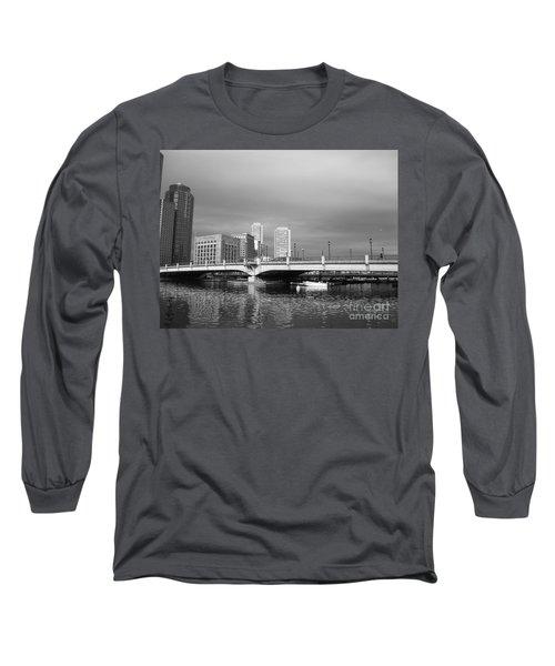 Boston Bridge Long Sleeve T-Shirt by Barbara Bardzik