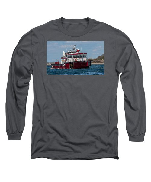Boston Fire Rescue Long Sleeve T-Shirt by Brian MacLean