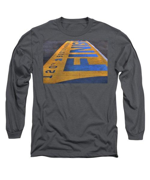 Boston Marathon Finish Line Long Sleeve T-Shirt by Joann Vitali