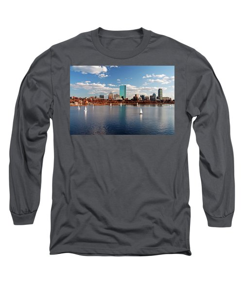 Boston On The Charles  Long Sleeve T-Shirt