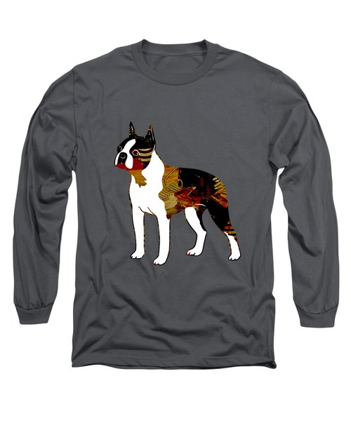 Boston Terrier Collection Long Sleeve T-Shirt by Marvin Blaine