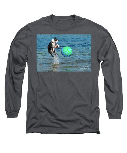 Boston Terrier High Jump Long Sleeve T-Shirt