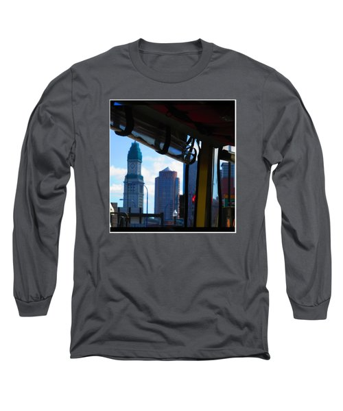 Boston Views From Tour Bus Window Long Sleeve T-Shirt