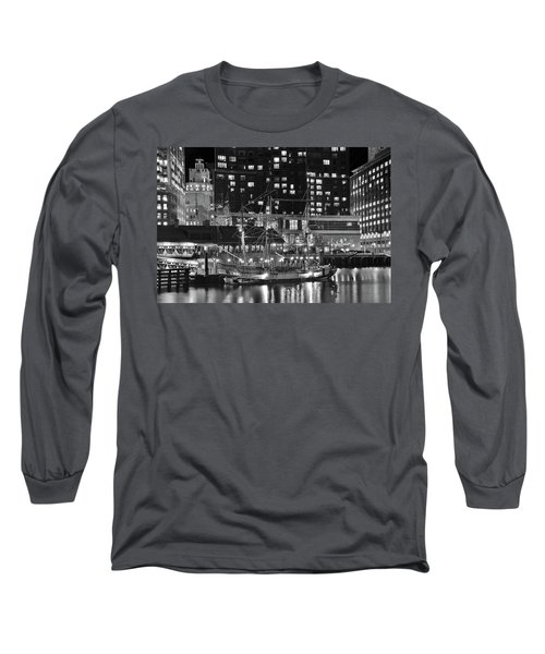 Long Sleeve T-Shirt featuring the photograph Bostonian Black And White by Frozen in Time Fine Art Photography
