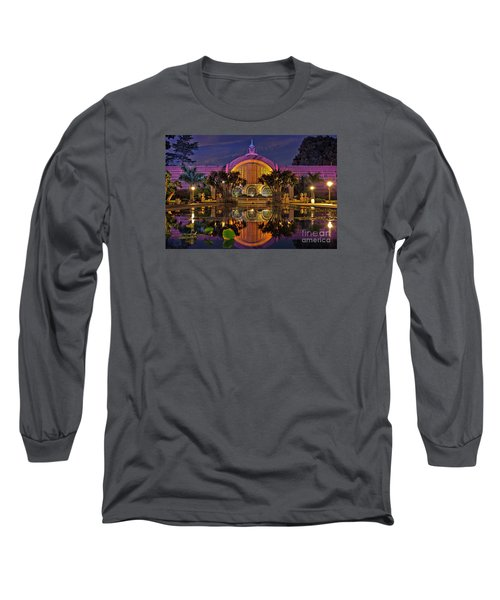Botanical Building At Night In Balboa Park Long Sleeve T-Shirt by Sam Antonio Photography