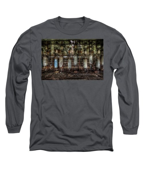 Bottles Hanging On The Wall  Long Sleeve T-Shirt by Nathan Wright
