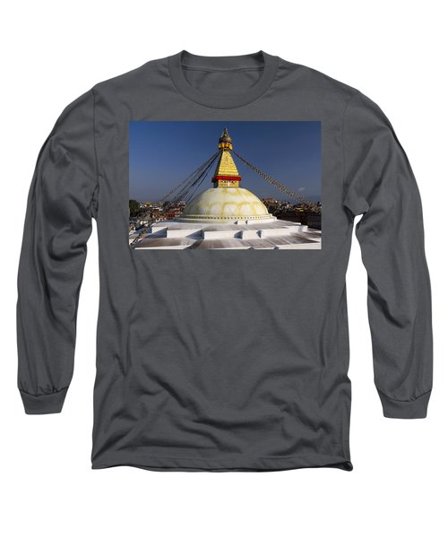Boudhanath Stupa Long Sleeve T-Shirt