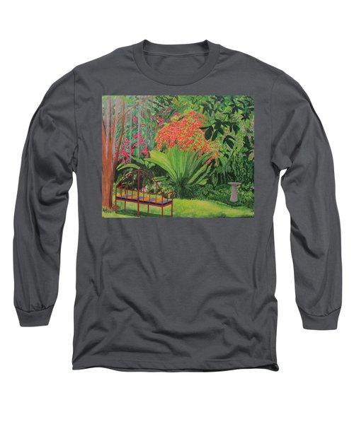 Bougainvillea Garden Long Sleeve T-Shirt by Hilda and Jose Garrancho