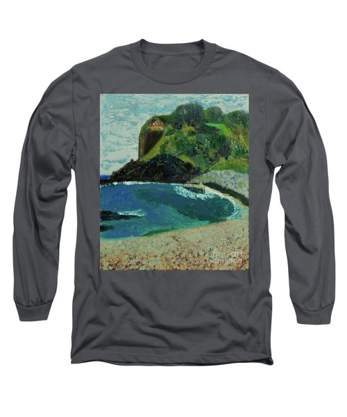 Long Sleeve T-Shirt featuring the painting Boulder Beach by Paul McKey