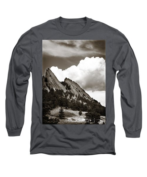 Large Cloud Over Flatirons Long Sleeve T-Shirt by Marilyn Hunt