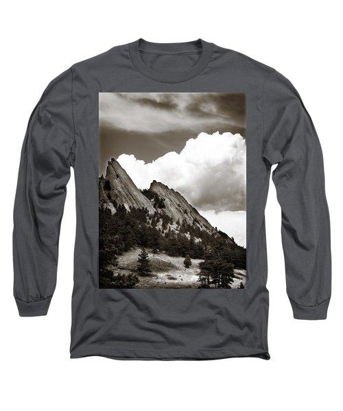 Large Cloud Over Flatirons Long Sleeve T-Shirt