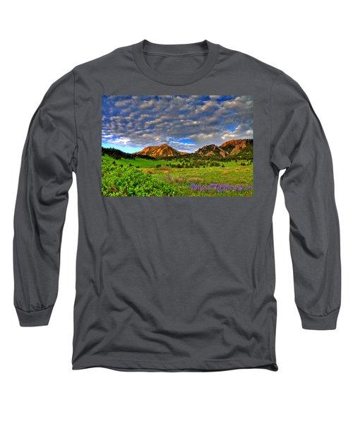 Boulder Spring Wildflowers Long Sleeve T-Shirt by Scott Mahon