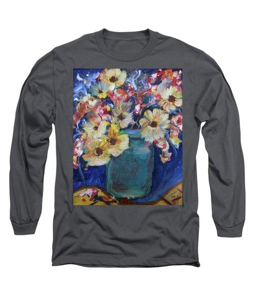 Bouquet Flowers Of Blue  Long Sleeve T-Shirt