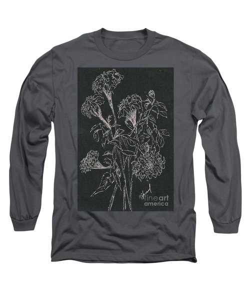 Long Sleeve T-Shirt featuring the painting Bouquet Of Flowers  by Vicki  Housel