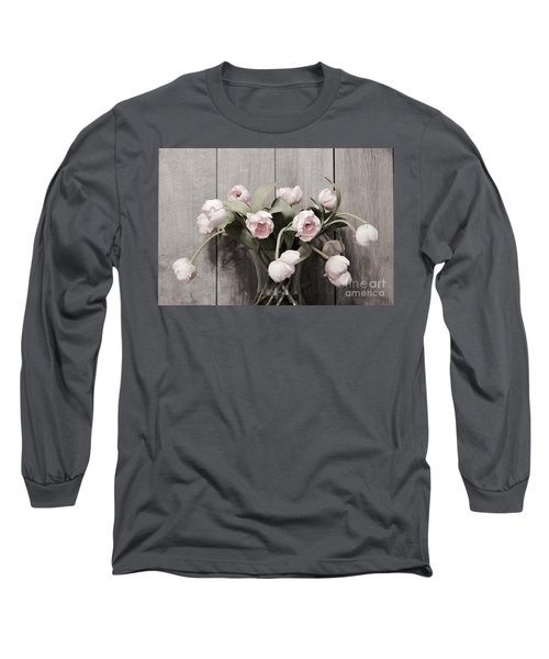 Bouquet Of Tulips Long Sleeve T-Shirt by Jeannie Rhode