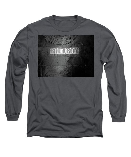 Bourbon In Black And White Long Sleeve T-Shirt
