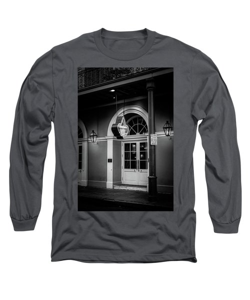 Bourbon O Bar In Black And White Long Sleeve T-Shirt