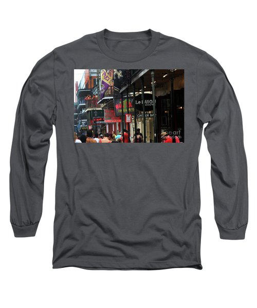 Long Sleeve T-Shirt featuring the photograph Bourbon Street by Steven Spak
